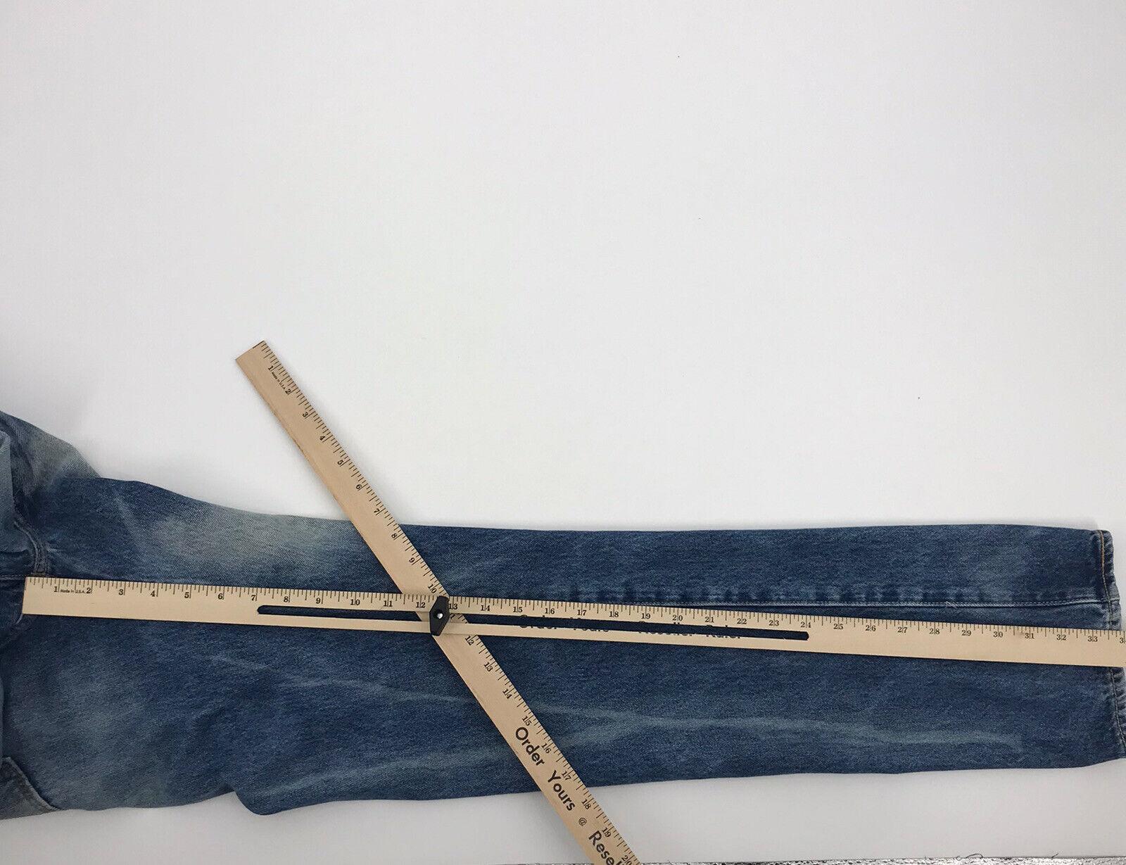 Levis 501 Mens Blue Denim Distressed Jeans Sz 32W - image 5