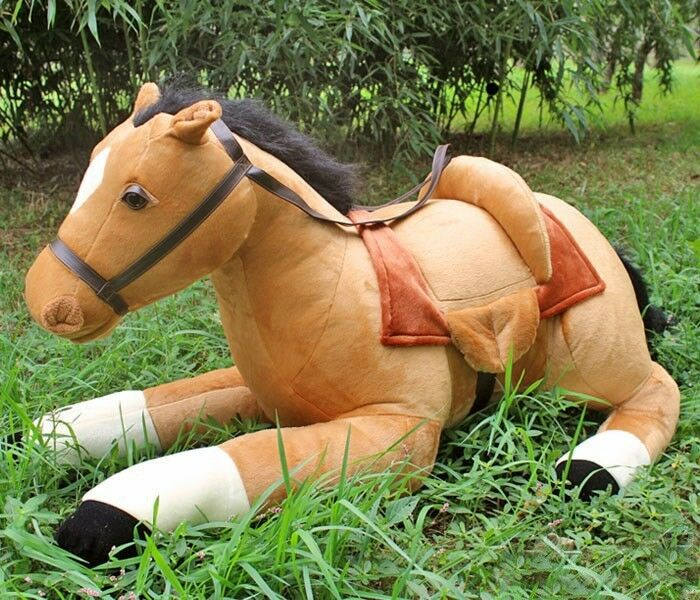 105cm/41  huge large big plush soft toys light Marrone horse stuffed animals 2018