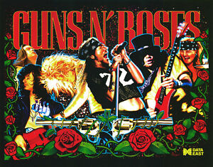 FidèLe Data East Flipper Guns N Roses Jeu Light Mod Rouge-afficher Le Titre D'origine
