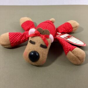 Ramona-Reindeer-plush-beanie-Burger-King-Hallmark-promo-1987-w-tag-Christmas-vtg