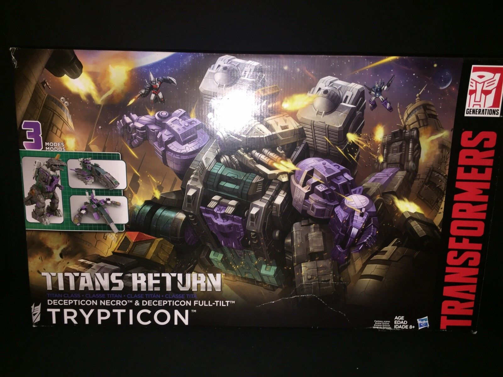Transformers Generations Titan Return TRYPTICON w  NECRO & FULL-TILT NIB
