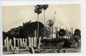 Gq680-407-Real-Photo-of-Thuparama-Dagoba-Ceylon-Sri-Lanka-c1940-Unused-VG-EX