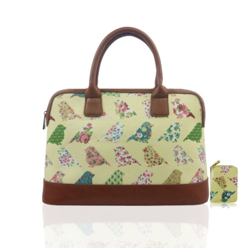New Womens Designer Style Patterned Cross Body Travel Hand Luggage Day Bag