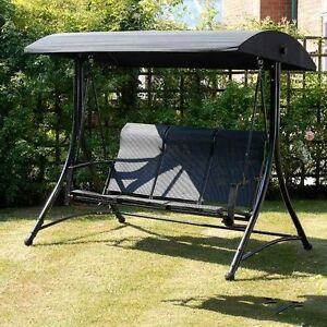 Garden Swing Havana Suntime 2 Or 3 Seater In Black Free Delivery Ebay