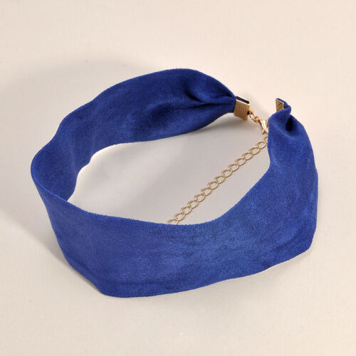 Punk Women/'s Velvet Ribbon Wide Collar Choker Necklace Gothic Handmade Jewelry