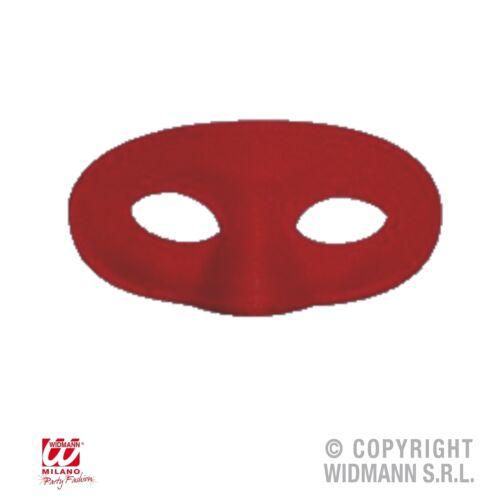 Domino Stoff Augenmaske für Kinder schwarz rot gelb blau weiss Maske Karneval