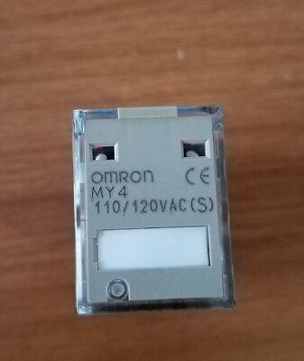 POWER RELAY 120VAC S PLUG IN OMRON INDUSTRIAL AUTOMATION MY4N AC110//120 5A 4PDT