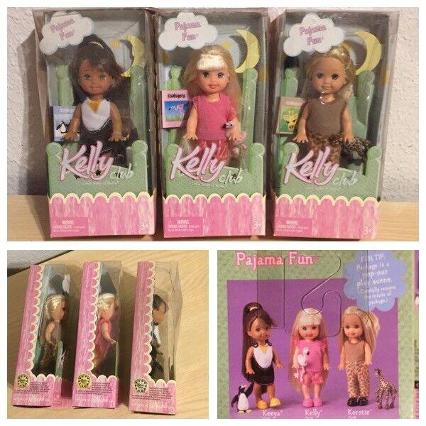 Juego Completo De 3 Pijama poco hermanas de muñecas Barbie Kelly Club, nuevas enmiendas