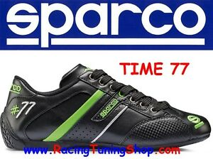 SCARPA-SCARPE-SPARCO-TIME-77-NERO-VERDE-PELLE-SPARCO-SHOES-LEATHER-SIZE-EUR-44