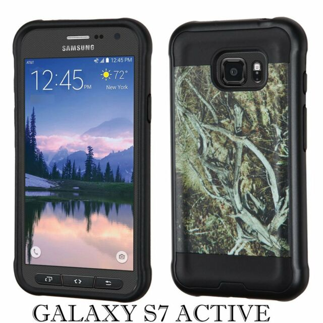 Hard Gummy Rubber Hybrid Case Brown Green Vine Trees Cell Phones & Accessories Samsung Galaxy S7 Active Cases, Covers & Skins