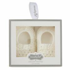 White Crochet Christening BOOTS for