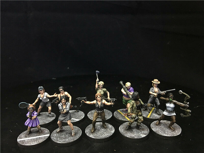28mm DPS painted Project Z Survivors & Street Gangs Zombies, Warlord Games 5550