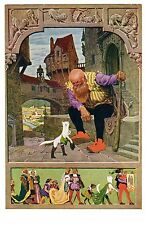 POSTCARD GERMAN FAIRY TALE PUSS IN BOOTS CAT THEME SIGNED PAUL HEY
