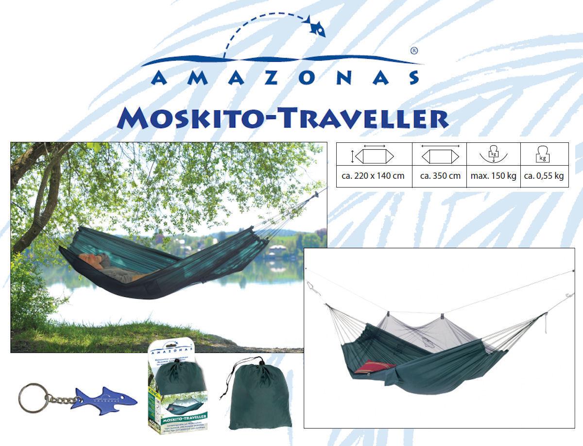 Amazonas Reise   Camping Hängematte Moskito-Traveller  mit Moskitonetz  1030200