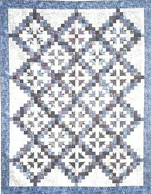 New Rotary Cut  Quilt Pattern FACETED JEWELS Machine Pieced 80x104