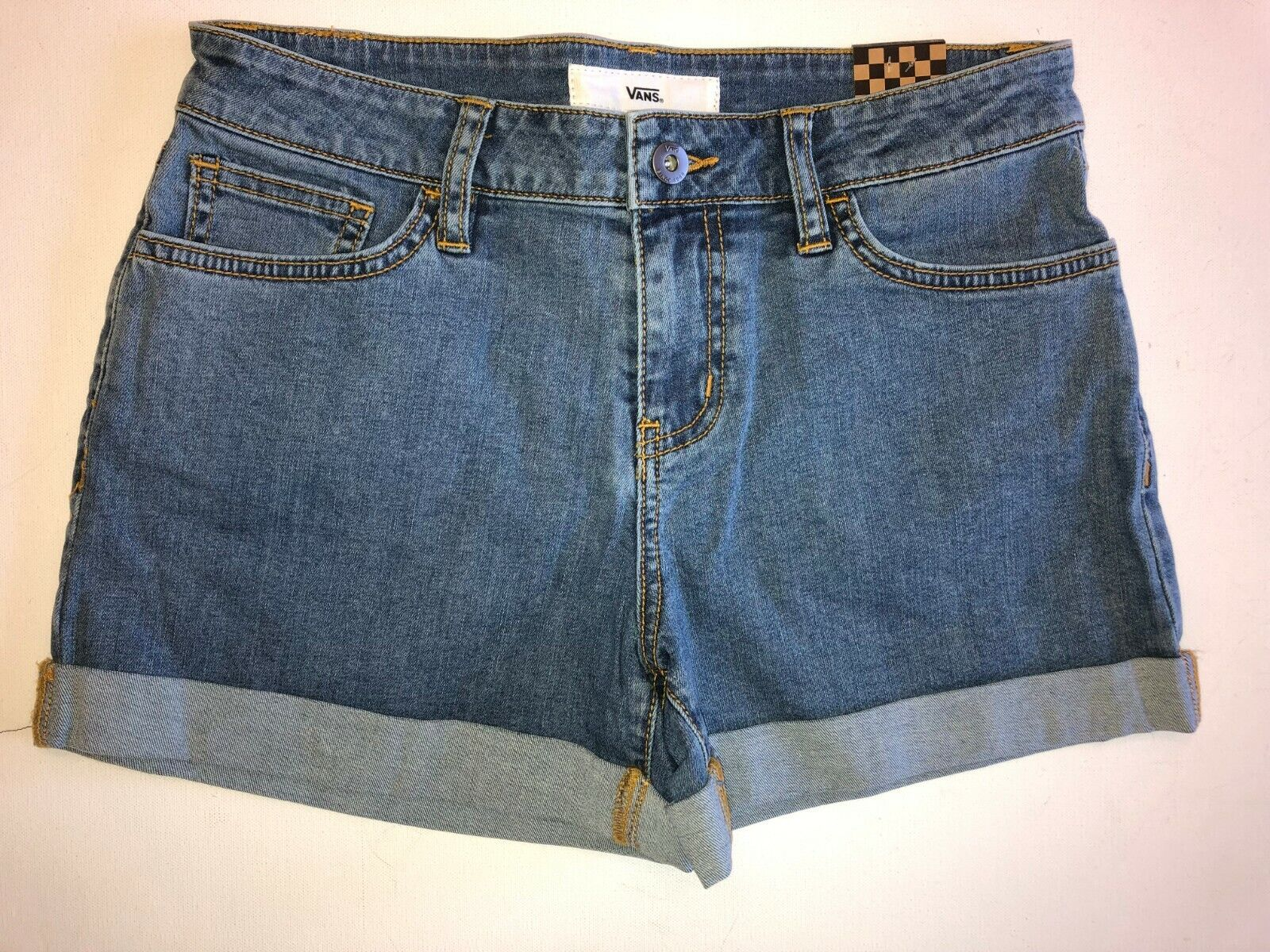 NEW Vans Boyfriend Cuff Jean Shorts Women's Size 26