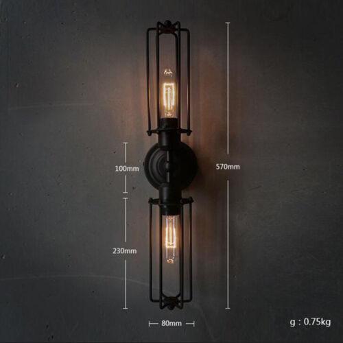 Industrial Metal Steampunk Chandelier Edison Bulb Pendant Hanging Retro Lamp US