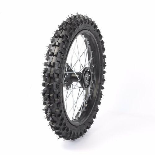 "12mm Axle Front 14/"" Pit Bike Wheels 60//100-14  2.50-14 Tire Rim for Kawasaki KLX"