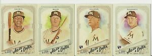 MIAMI-MARLINS-2018-Topps-Allen-amp-Ginter-BASE-TEAM-SET-4-Cards-Anderson