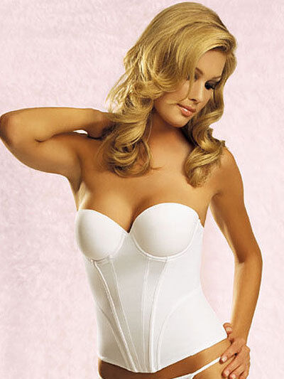 JEZEBEL Caress Bustier Bridal Bra 32533 White  Strapless 34 B  Ship Fast