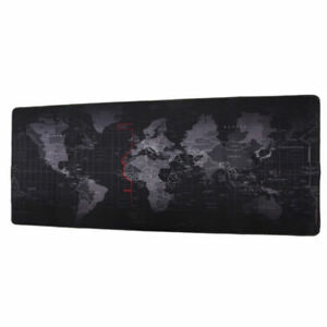 Home OfficeBlack World Map Large Extended Rubber Speed Gaming Mouse Pad Desk Mat