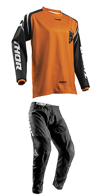 NEW THOR MX ORANGE BLACK SECTOR ZONES ADULT RACE GEAR COMBO JERSEY PANTS ATV