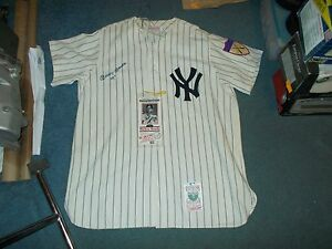 san francisco 6f073 ffb1d Details about Mickey Mantle Hand Signed Jersey No. 7 Yankees Mitchell Ness  With Ticket Stub