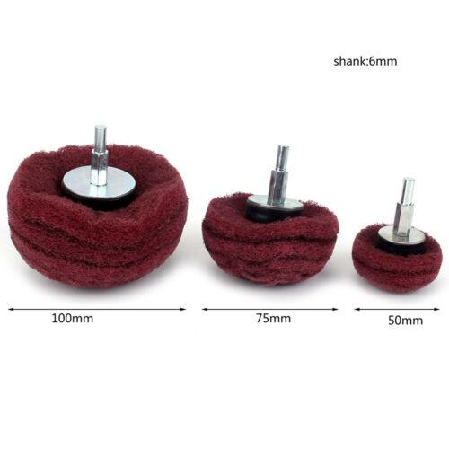 Nylon Fiber Buffing Polishing Mushroom Wheel Dome Polisher Pad Sets For Drill