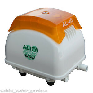 Alita air pump al 40 40lpm for koi goldfish pond ebay for Goldfish pond pump