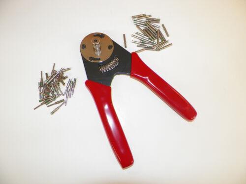 CAT Harley Deutsch DT 14-20 8 INDENT crimp tool crimper 50 # 16 solid terminals