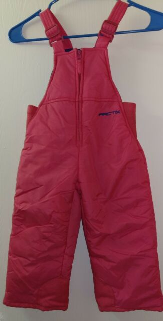 766a33414 Carters Snow Bib Overall Pants Toddler Girl Snowsuit 2T Pink