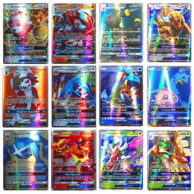 100pcs 95 GX + 5 MEGA Cards Pokemon Card Holo Flash Trading GX Cards Hot Sale