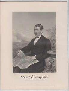 """C1227 : 1872 David Livingston 8 """" x10 1/2 """" Gravure"""
