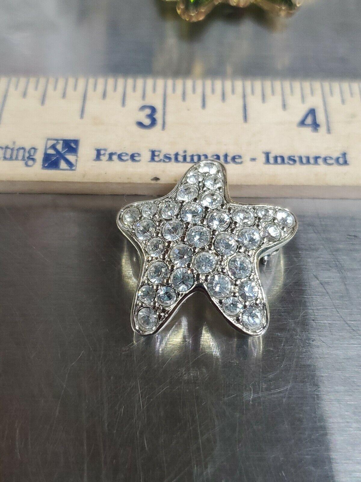 Swarovski crystal Brooch Silver Tone Star Super P… - image 7