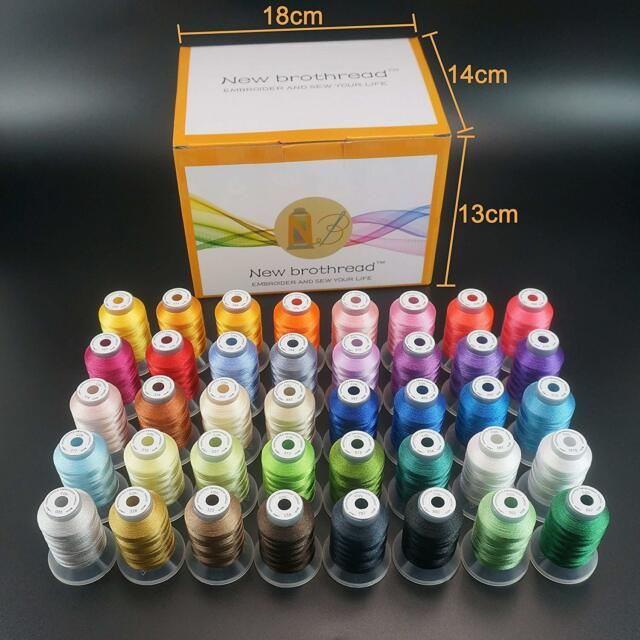 40 Spools Polyester Embroidery Machine Thread 550 YDS//ea Similar2 Brother Colors