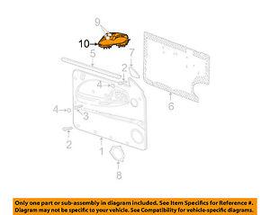 Dodge-CHRYSLER-OEM-97-00-Dakota-Front-Door-Window-Switch-Bezel-Left-56045302AA