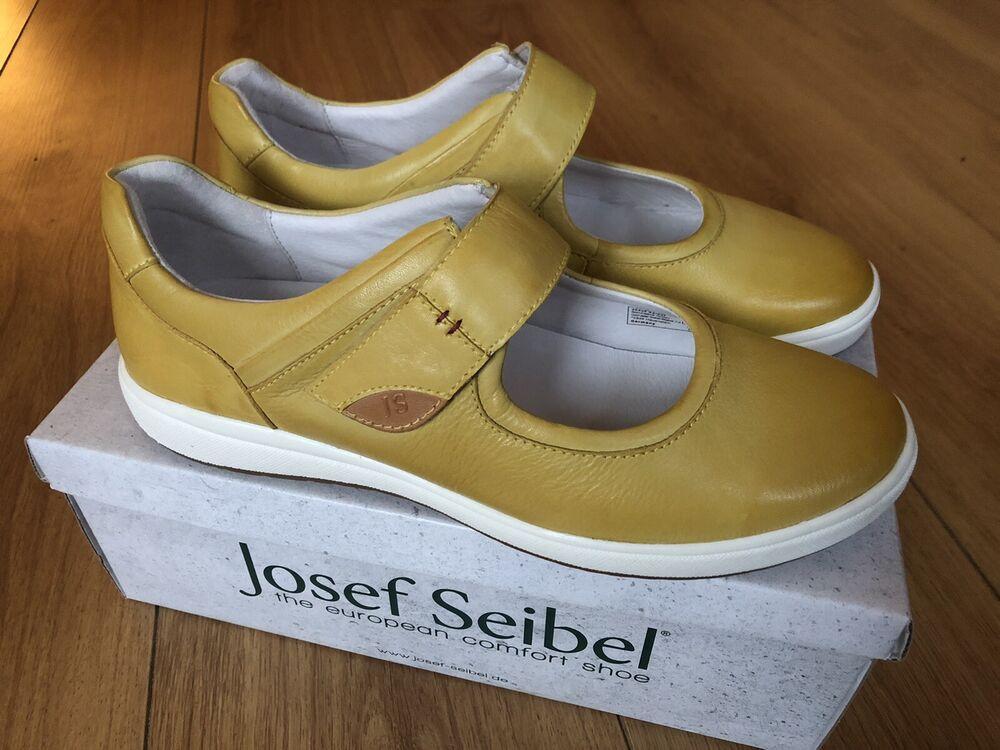 Humble Nouvelle Marque Josef Seibel Caren 05 Chaussure Femmes Avec Sangle-cuir Jaune Uk 6/39