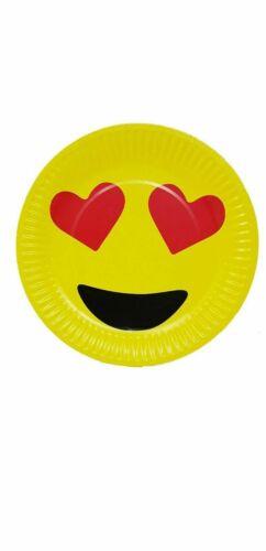 AEX Emoji Heart Eyes Party Tableware Set