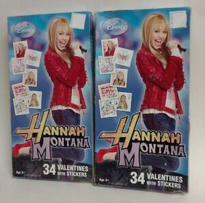 Miley Cyrus DISNEY Hanna Montana HALLMARK VALENTINES DAY CARD Lot Of 32 W// Box !