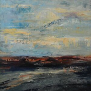 Huge-Original-Acrylic-Painting-Abstract-Seascape-Art-on-Canvas-by-Hunoz-40-x-40-034