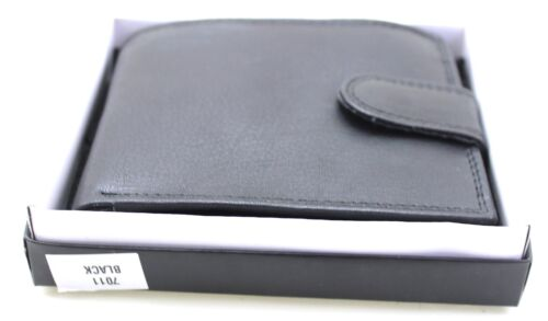 New Small Vettoli Real Leather Mens Wallet Black RFID Protection Certified