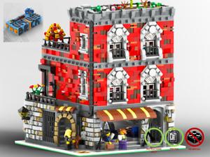 Modular-Cafe-Corner-039-Brickoffee-039-PDF-Bauanleitung-kompatibel-mit-LEGO-Steine