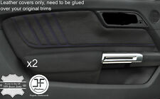 PURPLE STITCH 2X REAL LEATHER DOOR CARD TRIM COVERS FITS FORD MUSTANG 2015-2017