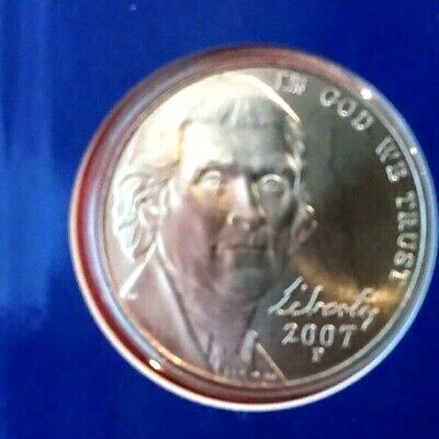 **FREE SHIPPING** 2 COINS 2007 P /& D JEFFERSON NICKEL SET
