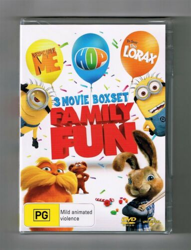 1 of 1 - Despicable Me / Hop / Dr.Seuss' The Lorax (3-Movie Collection) Dvds New & Sealed