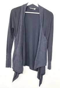 Mint-Velvet-Waterfall-Cardigan-Charcoal-sz-8-Blue-Largenlook-long-sleeve