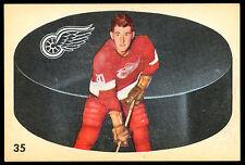 1962 63 PARKHURST HOCKEY #35 LEN LEONARD LUNDE EX-NM DETROIT RED WINGS CARD