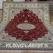 Yilong 9'x12' Persian Wool Rugs Hand knotted Home Carpets Handmade Online 1381