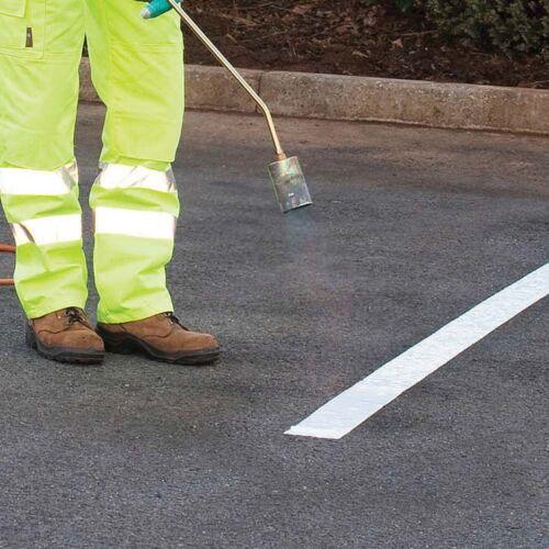 Antorcha de marcado de línea de carretera-on PARKING Termoplástico Blanco 50 mm 75 mm 100 mm
