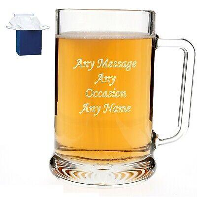 Personalised Engraved Pint Beer Glass Best Man Usher Groomsman Wedding Gifts